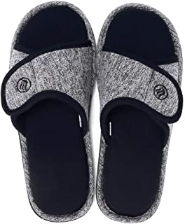 Women's Furry Faux Fur Slippers Cozy Memory Foam House Slippers Soft Comfy Flat Slide Sandals Indoor Outdoor Slip on
