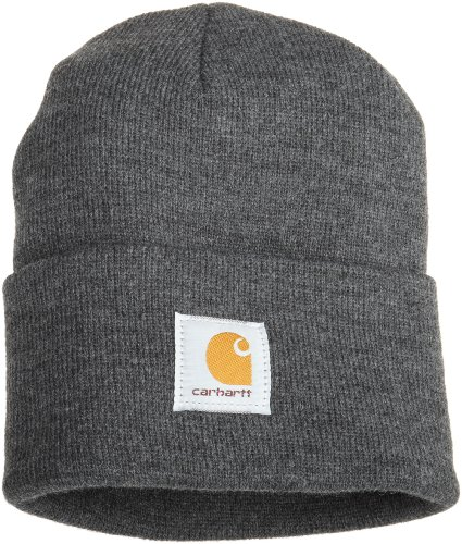 Carhartt Men's Acrylic Watch Hat A18, Coal Heather, One Size