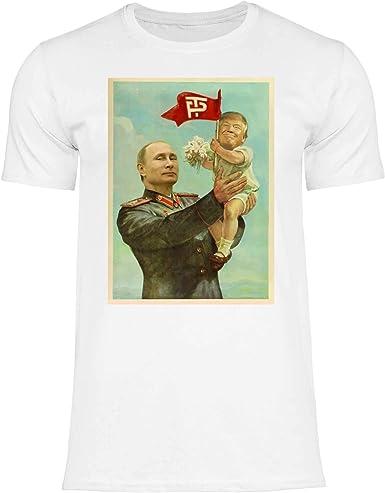 wowshirt Camiseta Trump Putin URSS CCCP Soviética para Hombre ...