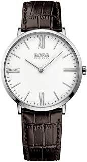 Hugo Boss Men's Year-Round Analog Quartz Brown Watch, (1513373)
