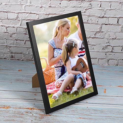 Schwarzer Fotorahmen mit Massivholz und Kunststoff 1,5 cm / 0,6in 31,6 cm Bilderrahmen