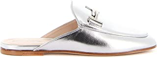 Luxury Fashion | Tod's Women XXW79A0X970KACB200 Silver Leather Loafers | Spring-summer 20