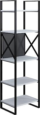Movian Meta Narrow Bookcase-White