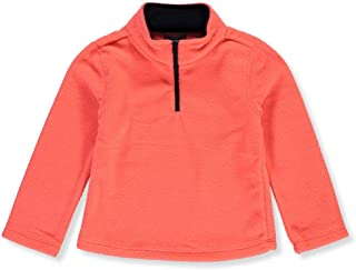 French Toast Baby Infant Collar Trim Microfleece Pullover Top - Coral, 24 Months