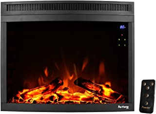 e-Flame USA Edmonton 28-inch Curved LED Electric Fireplace Insert (Black)