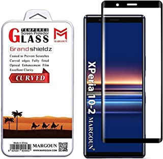 MARGOUN for Sony Xperia 10 ii Screen Protector Tempered Glass 3D Full Curved, Full Coverage Protective Film 6.0 Inches (Bl...