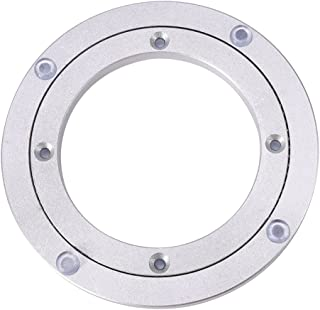 Swivel Turntable Lazy Susan Heavy Duty Aluminium Alloy Rotating Bearing Turntable Round Dining Table Smooth Swivel Plate for Kaleidoscopes Tabletop Serving Trade Show Displays(8 inch)