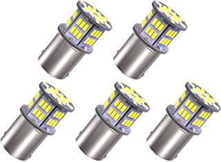 YITAMOTOR 5x 1156 LED Bulb White for Car Camper RV Lights, 650 Lumens, BA15S 1141 1003 1156 LED Reverse Brake Turn Signal Back up Light Bulbs, 12v-24v, Extremely Bright, 6000K 3014 54-SMD