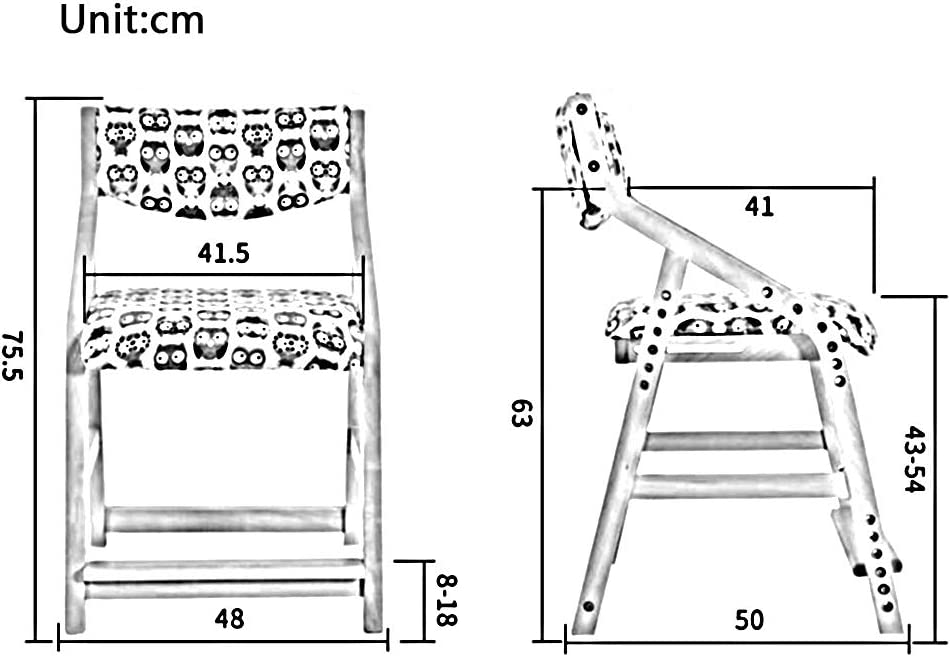 WYYY chaise de Bureau Simple Enfants d'apprentissage Chaise De Salle À Manger Bois Massif Chaise De Bureau Durable Fort (Couleur : T2) T3