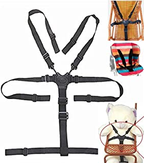 High Chair Straps, 5 Point Harness, Harness for High Chair, High Chair Harness,Universal Baby Safe Belt Holder Replacement for Stroller Wooden High Chair Pram Buggy Children Kid Pushchair