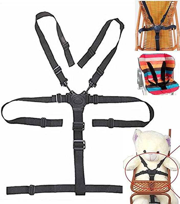 High Chair Straps 5 Point Harness Harness For High Chair High Chair Harness Universal Baby Safe Belt Holder Replacement For Stroller Wooden High Chair Pram Buggy Children Kid Pushchair