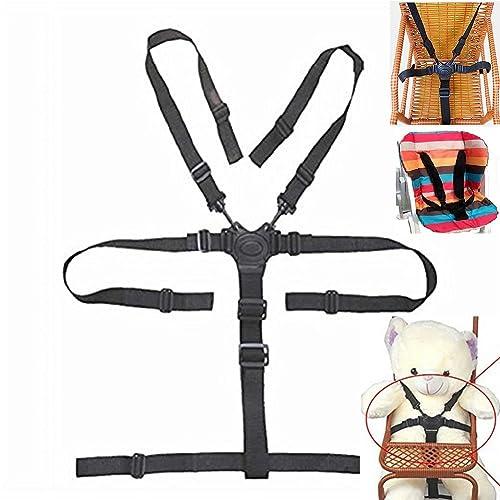 Sangles de chaise haute, chaise haute universel pour ceinture de sécurité/Sangles/Harnais/de remplacement pour chaise haute En Bois Poussette de bébé (Ceinture de sécurité 5points)