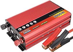 Homyl Inversor de energia de onda senoidal pura 3000 watts 12V 24V DC para 220V AC Conversor Outlets Home Outdoor Inversor...