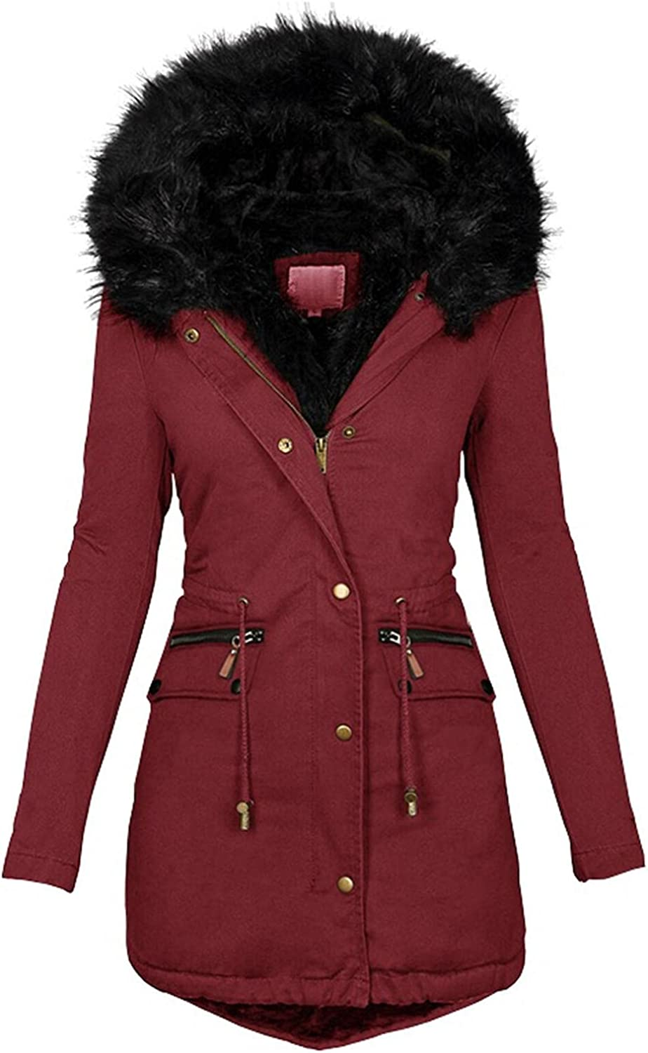 MASZONE Winter Coat Max 57% OFF for Women Sale SALE% OFF Warm Sleeve Long Casual Hooded Den