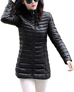 maweisong レディース厚暖かい冬カジュアルパデッドパーカ固体カラーダウンジャケットコート