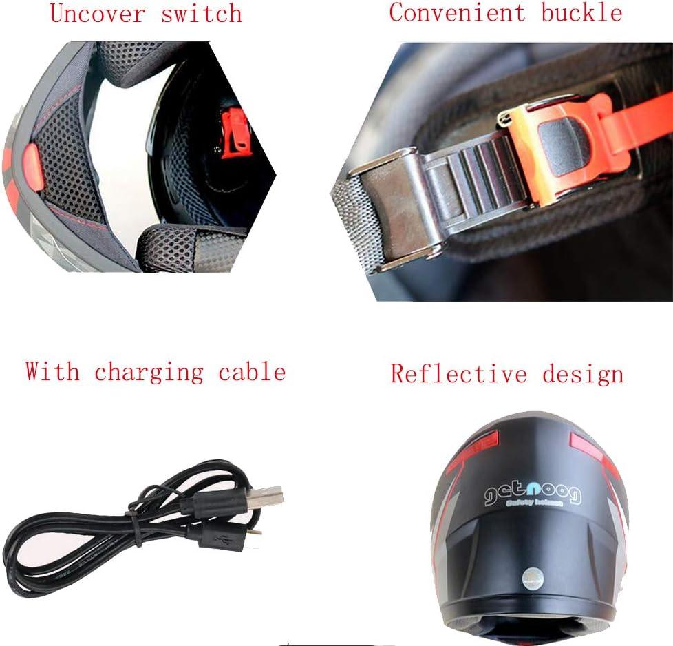 Casque De Moto Batterie Surdimensionn/ée Bluetooth /Étanche /à La Pluie Microphone Antibruit Anti-bu/ée Anti-/éblouissement Casque Int/égral Doublure Amovible Et Lavable