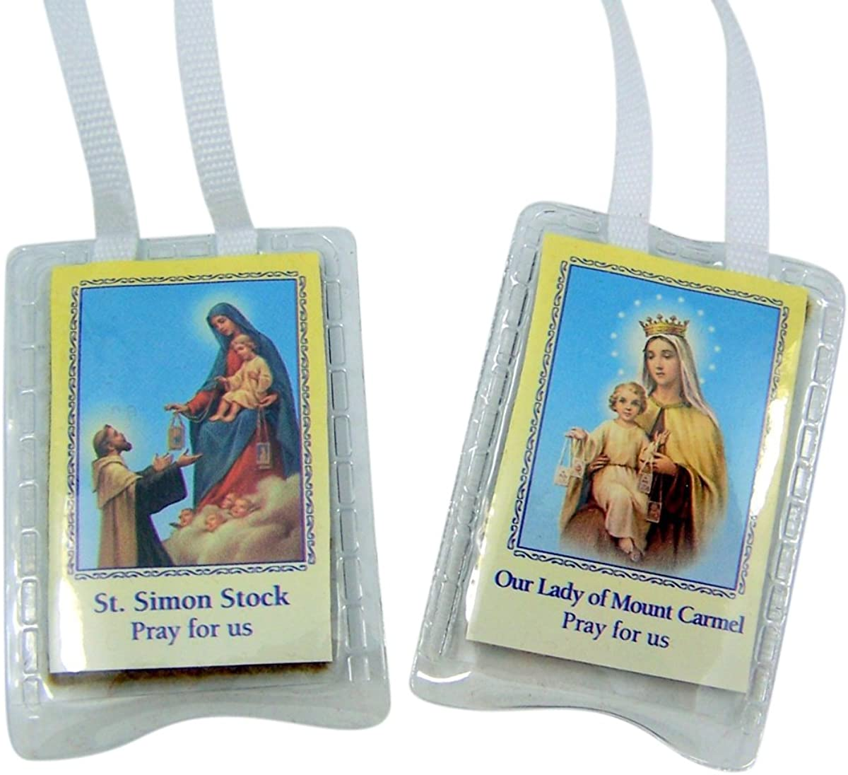 Laminated Brown Cloth Scapular Medals Inch on 16 Cord Chain At the price of surprise Store