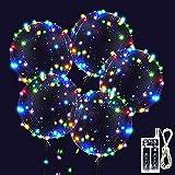 Zodight Palloncini LED Luminoso, 10 Trasparenti Palloncini a Con Colorati Luci Stringa, Adatti per Compleanni, Matrimoni, Feste, Palloncini Lampeggianti Natalizi (Colore)