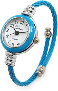 Blue Sky Silver Cable Band Women's Small Size Bangle Watch