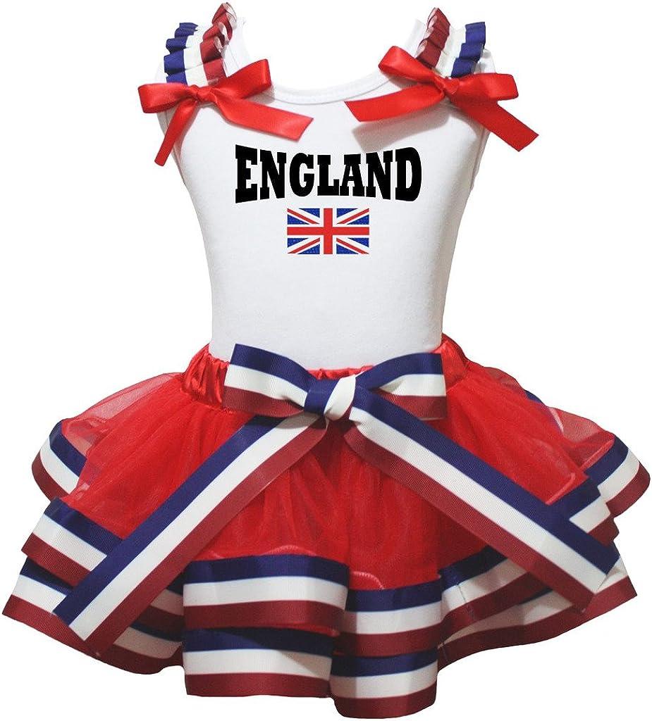 Petitebella England Union Jack Max 63% OFF White Dedication Petal Skirt Se Shirt Cotton