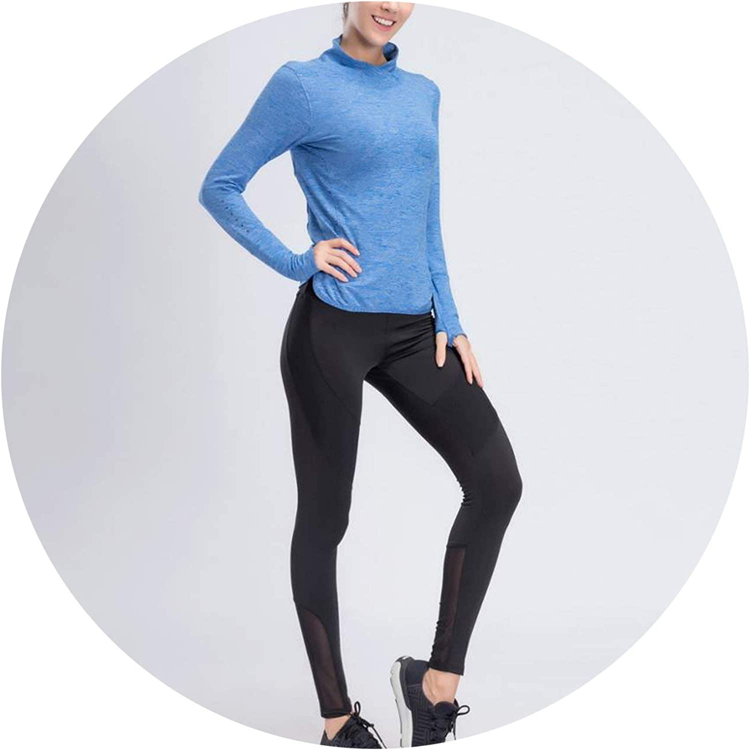 Talk about heaven 2019 New Yoga Sets Women Gym Clothes Breathable Fitness Sports Shirt + Running Pants Yoga Set
