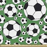 ABAKUHAUS Fußball Gewebe als Meterware, Sportmotiv, Schön