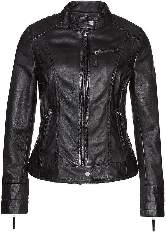 New Womens Genuine Sheep Leather Slim Fit Biker Jacket LFW385