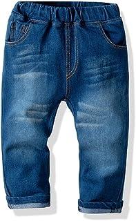 HOSD2019 Pantalones de Mezclilla de algodón para niños Big Boy Pantalones elásticos de Primavera y otoño Pantalones Delgad...