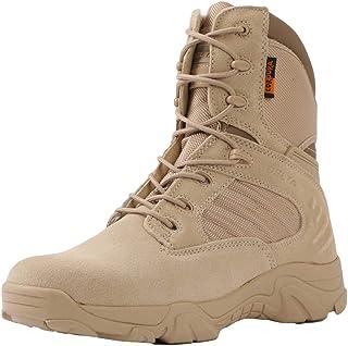 90520820a2e5 HGDR Bottes Militaires pour Hommes Chaussures de Combat dans Le désert en Plein  air Bottes d