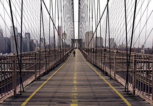 Fototapete '97289 Brooklyn Bridge' 366 x 254 cm New York Brücke Skyline Fotowand City Papermoon