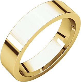 05.00 mm Flat Comfort-Fit Wedding Band Ring in 22k Yellow Gold (Size 9.5 )