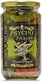 Psycho Pickles Pickled Gherkins Ghost Pepper 450g Jar