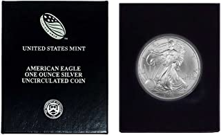 2003 - American Silver Eagle in Plastic Air Tite and Blue Gift Box with our Certificate of Authenticity Dollar Uncirculated Us Mint