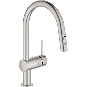 GROHE 31359002 Minta Touch Single-Handle Kitchen Faucet Starlight Chrome