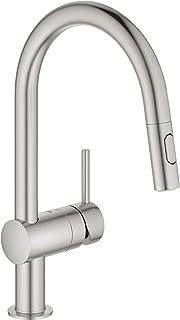 GROHE 31378DC3 Minta Single-Handle Kitchen Faucet, SuperSteel InfinityFinish