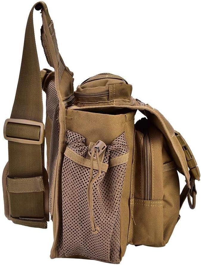 Ext/érieure Tactique Poitrine Sac /à Bandouli/ère Durable L/éger Hommes Militaire Sling Sac /à dos Pack pour Voyage Randonn/ée
