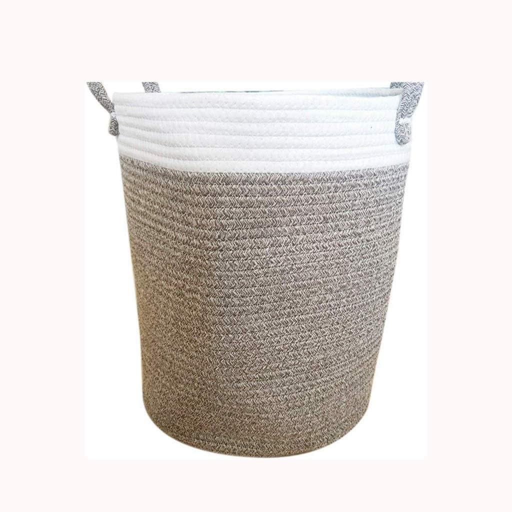 LIMEI-ZEN Regular store Hand-Woven Storage Basket Folding Laundry Bath High order