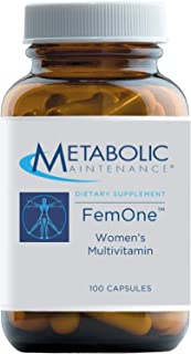 Metabolic Maintenance FemOne - Women's Multivitamin with Bioavailable Iron, Active Folate, B12, Antioxidants, Vitamin D + ...