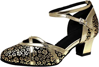 HROYL Chaussures de Danse Latine Femme Salsa Bachata Tango Chaussures de Danse de Salon Confort modèle-512