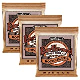 Ernie Ball Earthwood Rock et Blues w/Plain G Phosphor Bronze Guitare Acoustique Strings 3 pack - 10-52 Jauge