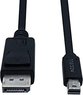 Accell mDP to DP 1.4 - VESA-Certified Mini DisplayPort to DisplayPort 1.4 Cable - 7 Feet, Hbr3, 8K @60Hz, 4K UHD @240Hz