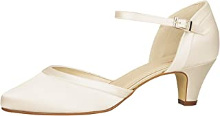 Rainbow Club Brautschuhe Letty - Pumps, Riemchen, Ivory/Creme, Satin