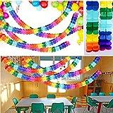 BETESSIN 4 STK Bunt Girlande Papier Deko Party Geburtstag Hochzeit Karneval Fasching Geburtstagsgirlande Partygirlanden - 4