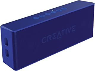 Creative MUVO 2 Portable Water-resistant Bluetooth Speaker with Built-in MP3 Player (Blue)