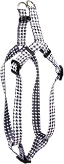 Yellow Dog Design Hounds Tooth White and Black Step-in Dog Harness