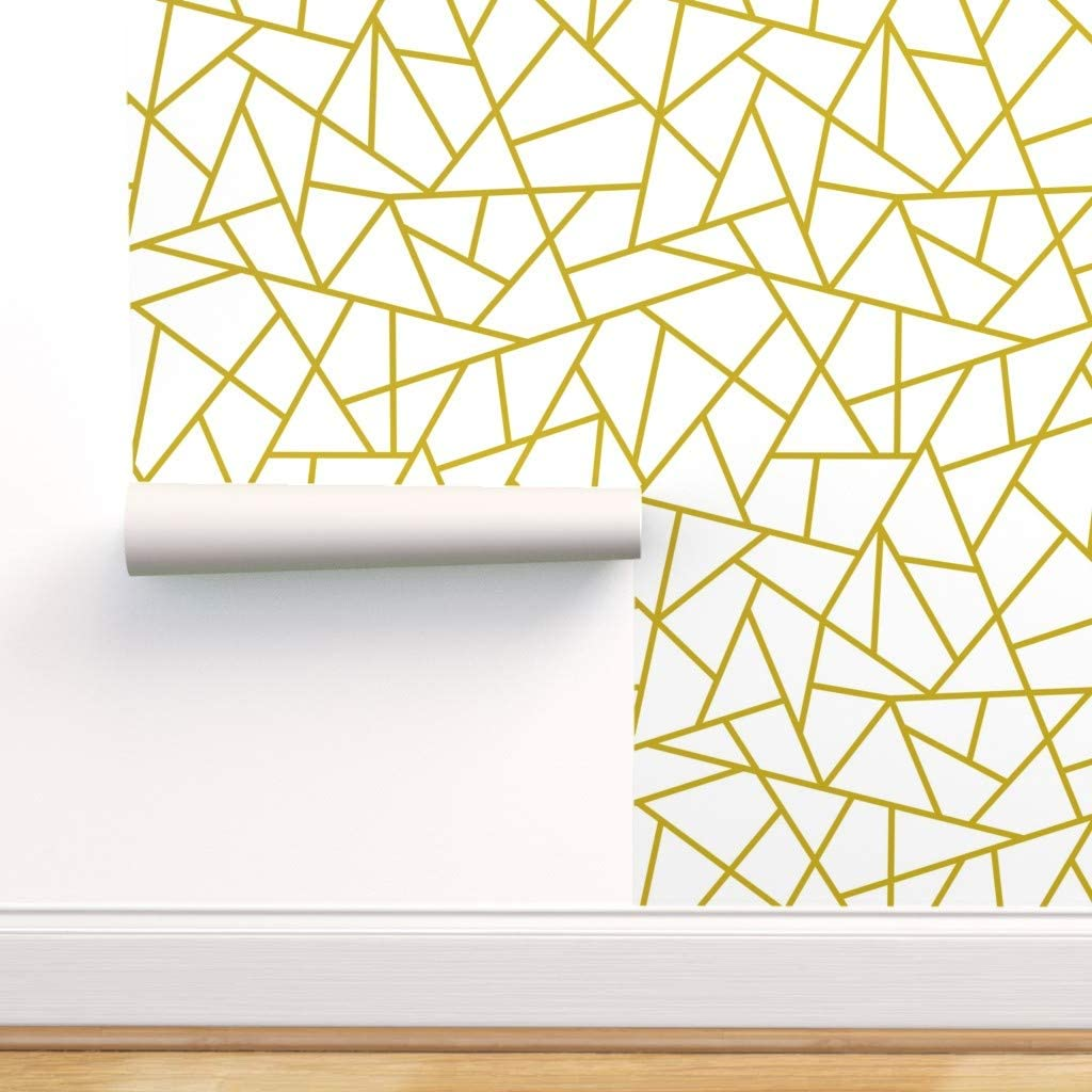 Spoonflower お買得 Pre-Pasted Removable Wallpaper 高品質 G Geometric Abstract