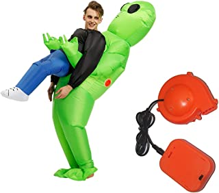 Inflatable ET Monster Costume Scary Green Alien Cosplay Costume for Woman Adult Masquerade Halloween Party Festival Stage ...