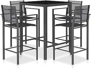Festnight Tavolo da Giardino in Alluminio e WPC 60 x 60 x 70 cm Tavolo Rettangolare da Esterno per Arredo da Bar Bistrot Argento