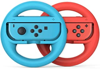 RGEEK Joy-Conハンドル for Nintendo Switch マリオ switch Joy-Con用のハンドルアタッチメン 2個 セット(赤&青).