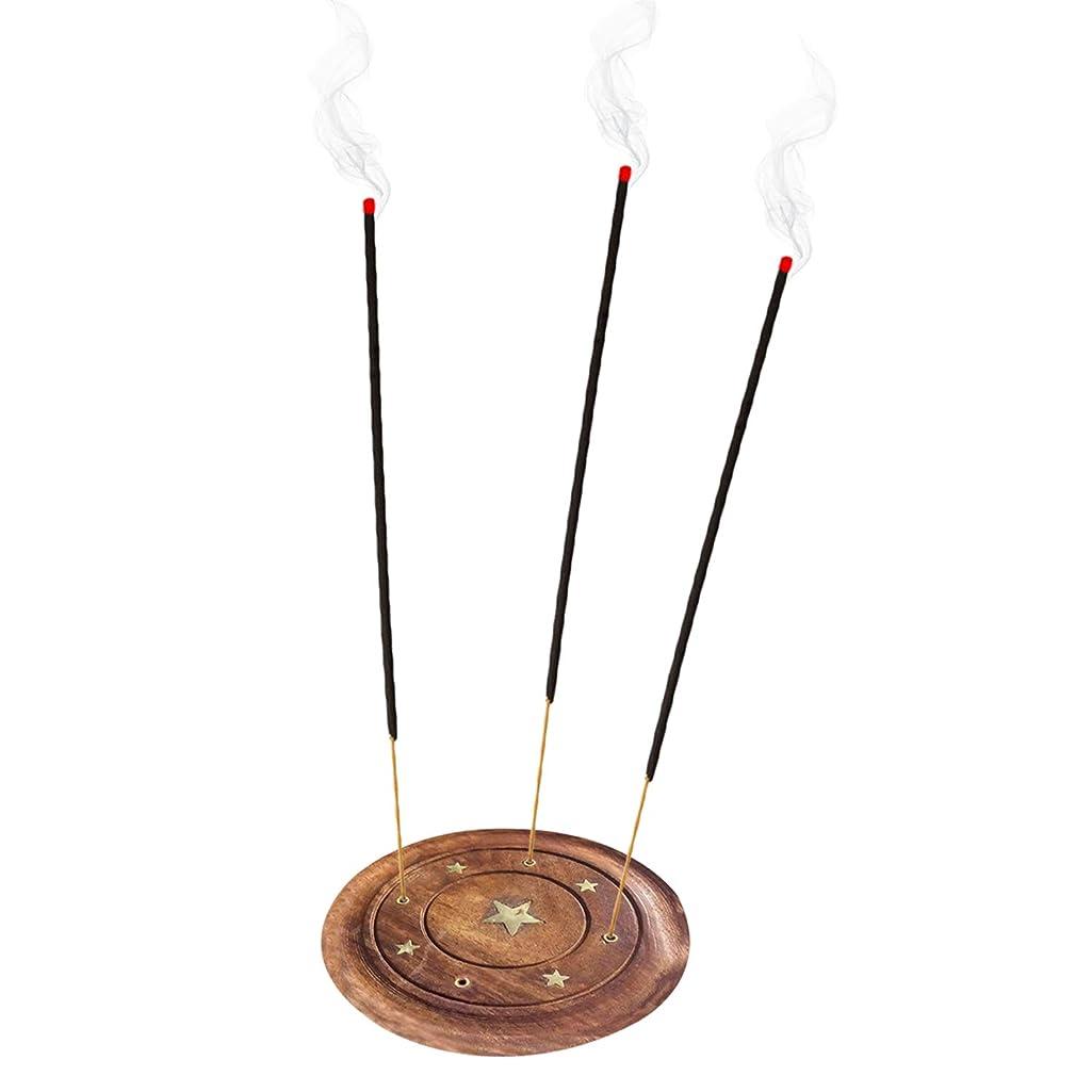 花火アーティキュレーションシリーズWooden Incense Saucer Plate Holder star Design